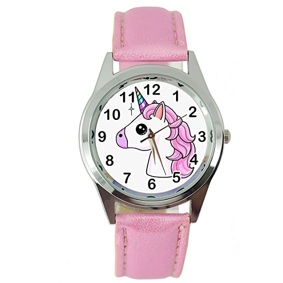 TAPORT Unicorn Leather Band Quartz Pink Watch E3+ Spare Battery + Gift Bag