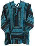 Authentic Mexican Baja Hoodie Pullover Sweater~assorted Colors