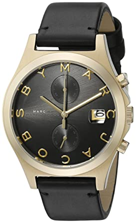 6750391b88e6e Image Unavailable. Image not available for. Color: Marc by Marc Jacobs  Women's MBM1398 The Slim Chrono Black Watch