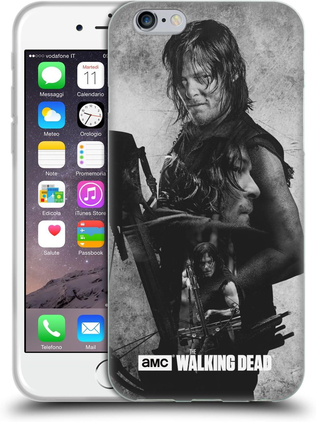 Head Case Designs sous Licence Officielle AMC The Walking Dead Daryl Exposition Double Coque en Gel Doux Compatible avec Apple iPhone 6 / iPhone 6s