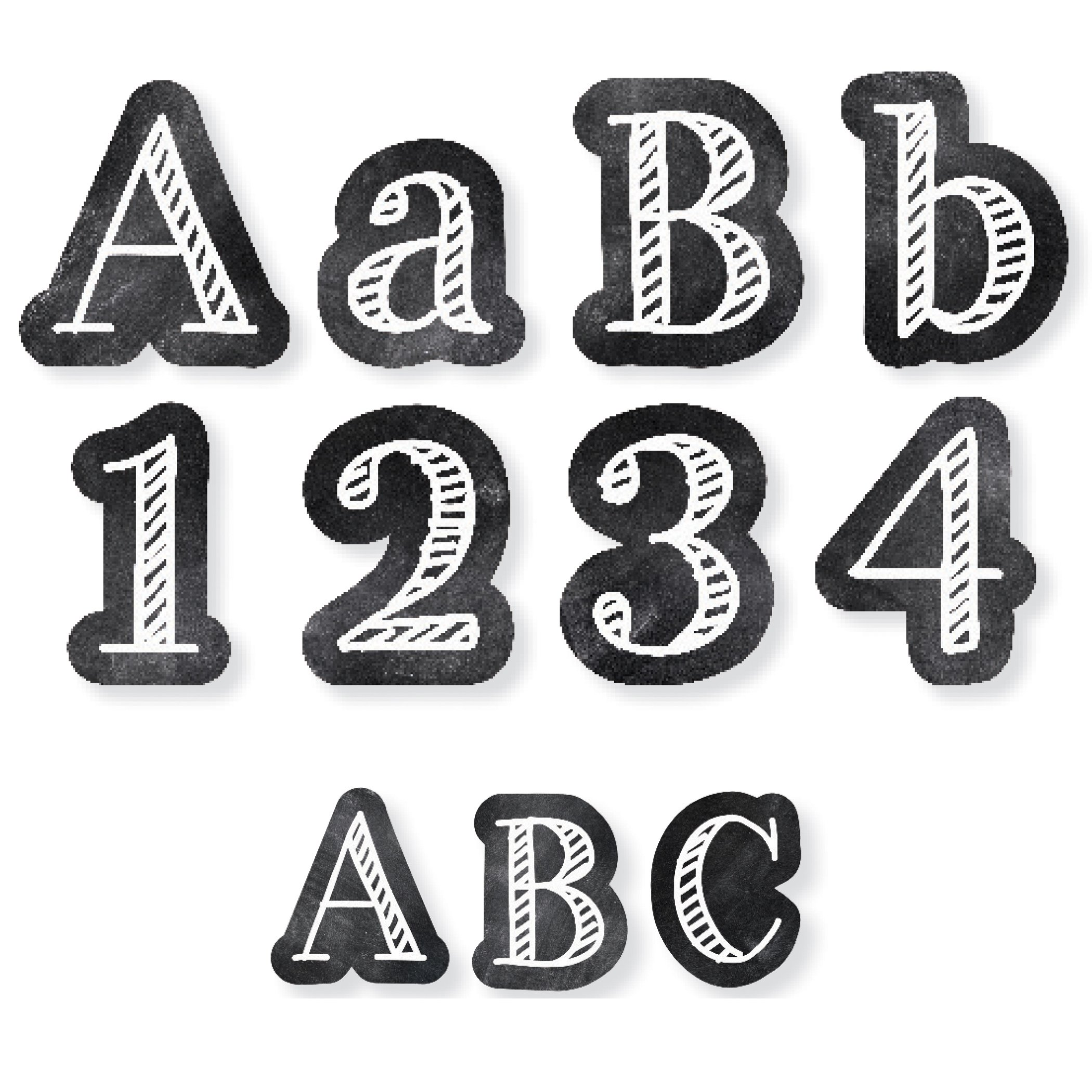 Creative Teaching Press CTP8913 Chalk It Up! Letters Pack: 4'' Punch Out Letters & 2'' Letter Sticker (Pack of 276) by Creative Teaching Press