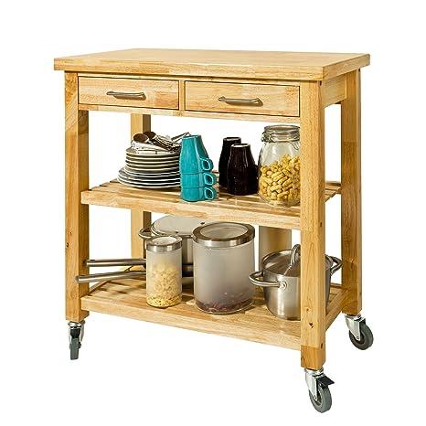 SoBuy® Carrello di servizio, Carrelli per cucina,mensola angolare ...