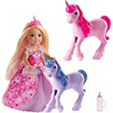 Barbie Dreamtopia Gift Set with Chelsea Princess Doll in Heart Dress, 2 Baby Unicorns and Accessories, Gift for 3 to 7 Year O