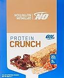 Optimum Nutrition Protein Crunch Bars Toffee Pretzel Box of 12 Protein Bars, 12 Pack