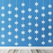 TUPARKA Snowflake Hanging Decorations Frozen Birthday Party Supplies Winter Wonderland Party Decorations White Christmas Snow