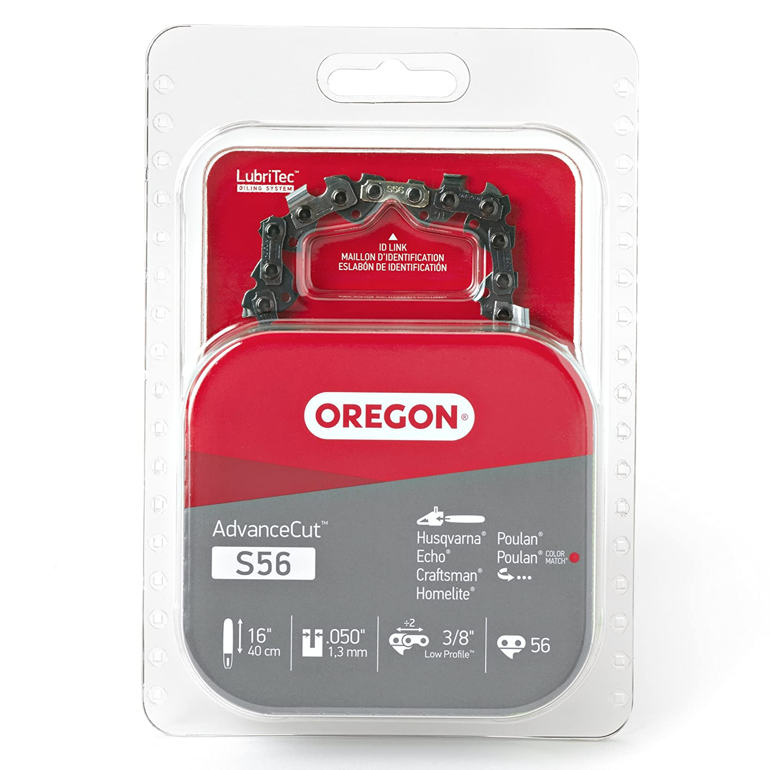 Oregon S56 16-Inch Semi Chisel Chain Saw Chain Fits Craftsman, Echo, Homelite, Poulan, Remington Oregon Cutting Systems