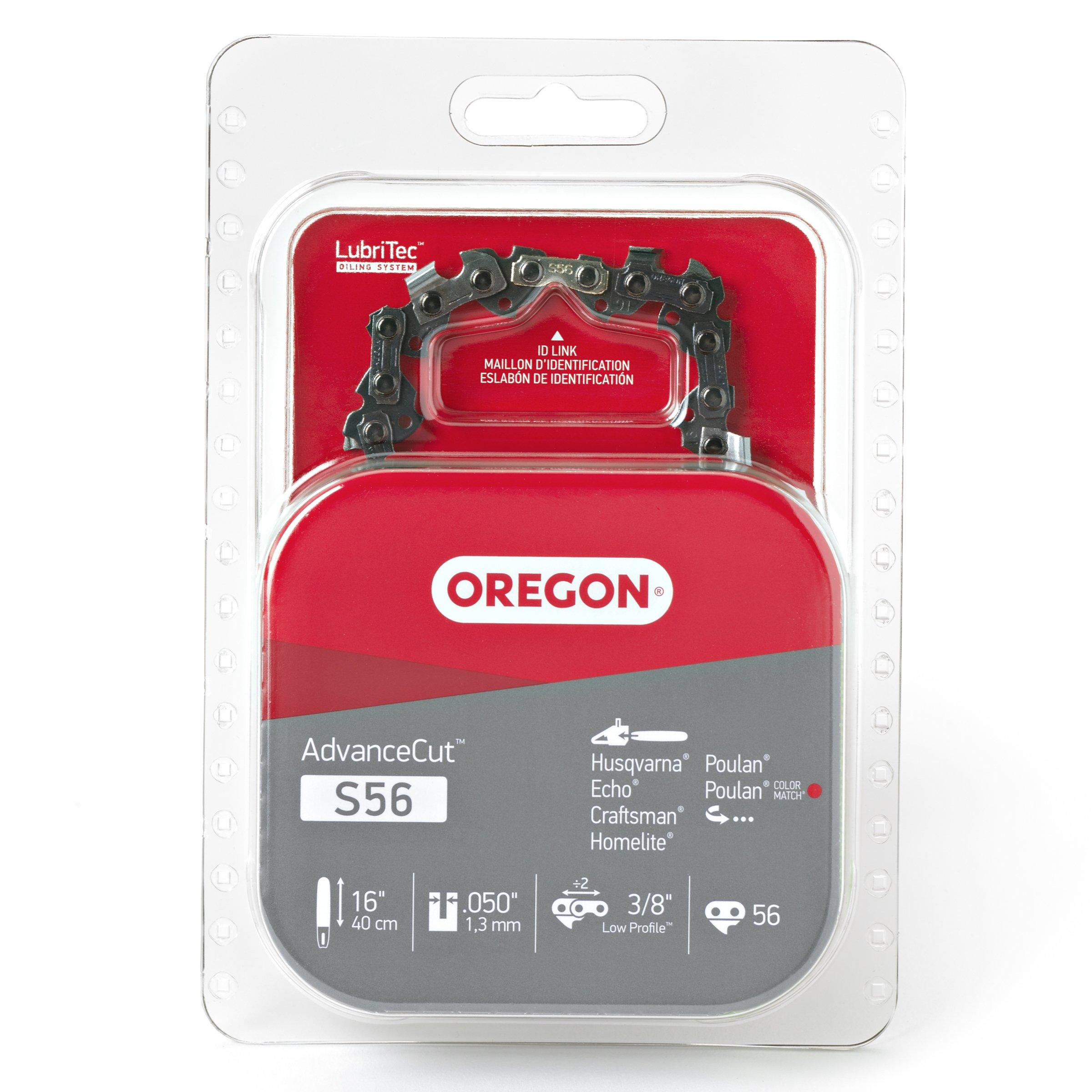 Oregon S56 16-Inch Semi Chisel Chain Saw Chain Fits Craftsman, Echo, Homelite, Poulan, Remington product image