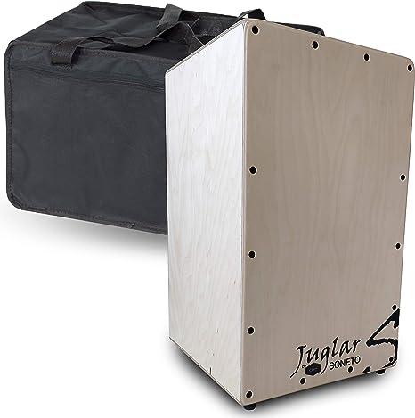 Cajón Flamenco Adulto Juglar Soneto + Funda | Cuerpo en Abedul de 10mm. y Tapa de Abedul de 3,5mm.: Amazon.es: Instrumentos musicales