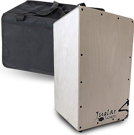 Cajón Flamenco Adulto Juglar Soneto + Funda   Cuerpo en Abedul de 10mm. y Tapa de Abedul de 3,5mm.: Amazon.es: Instrumentos musicales