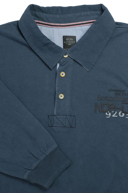 Sweatshirt Polo in Übergröße von Kitaro anthrazit  Amazon.de  Bekleidung a95685dd24