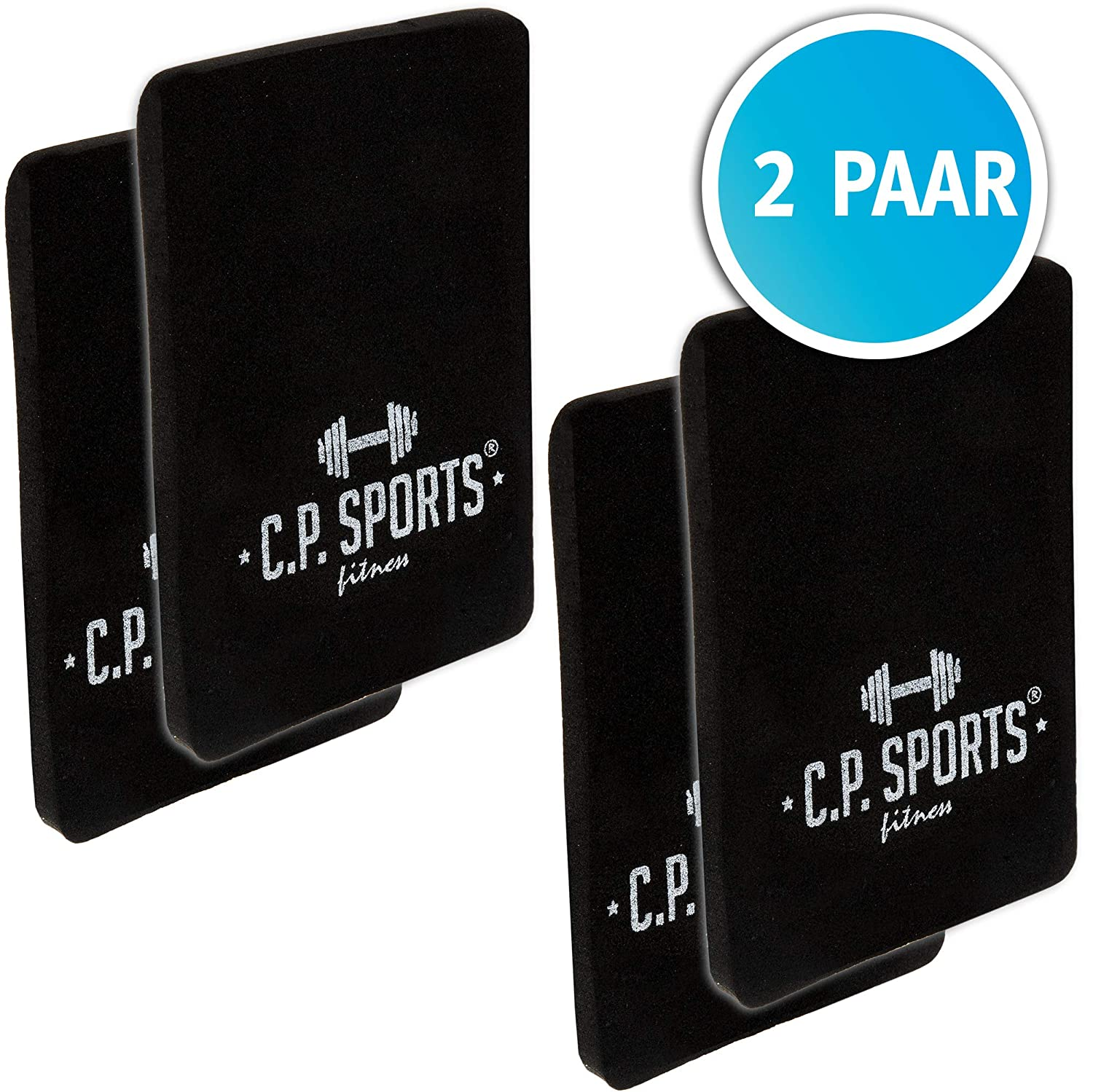 C.P. Sports Griffpolster 2er Set (2 Paar) 6mm 10x14 Doppelpack – Profi Griffpads ideal für Bodybuilding, Fitness und Krafttraining | Powerpads Grip Pads Unisex (Bodybuilder Gold)