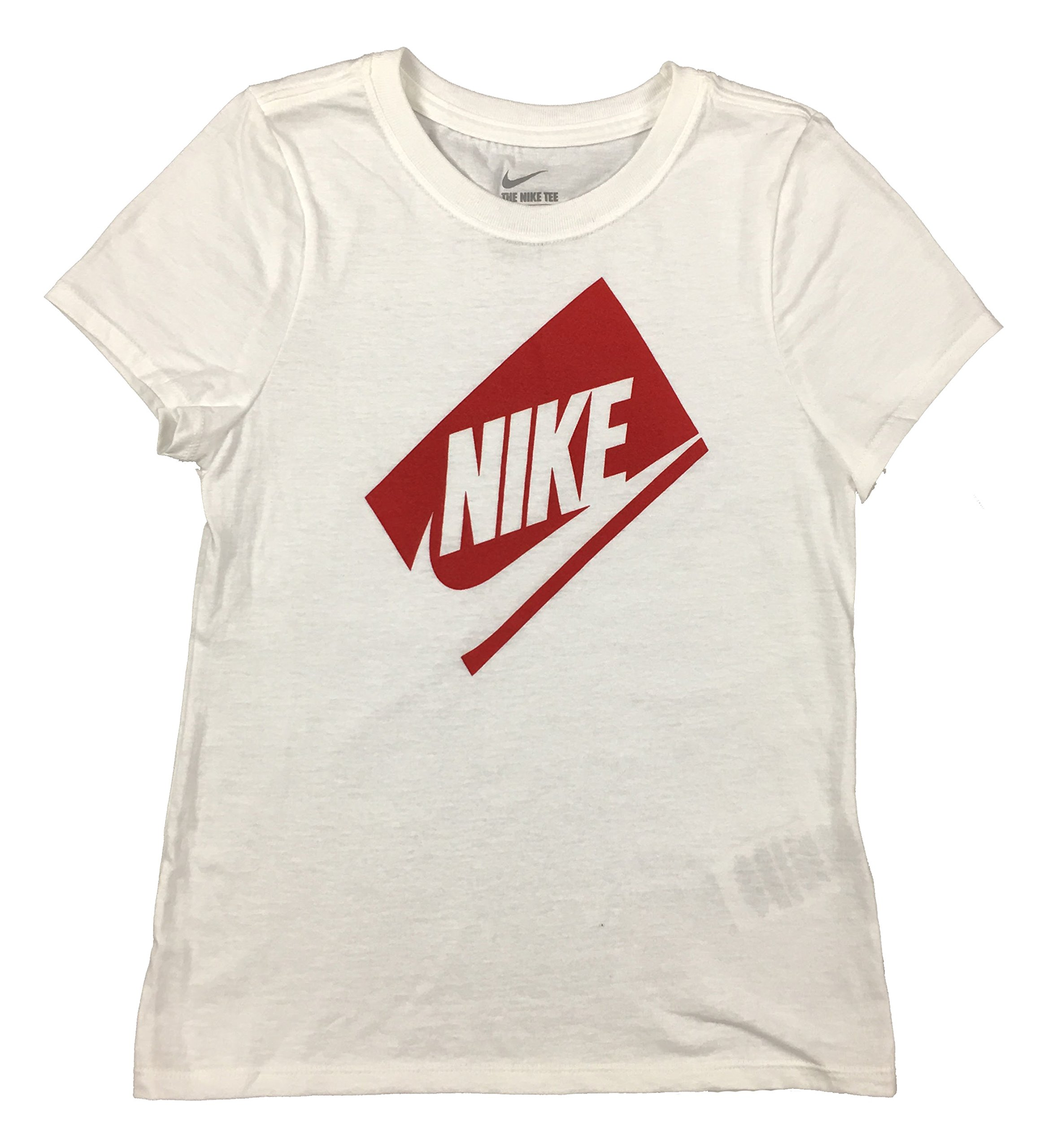 Nike Girls Swoosh Box Futura T-Shirt AA2150 100 Small by NIKE