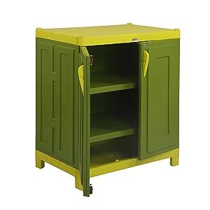 Supreme Rhythm Cupboard, Mehendi Green and Lemon Yellow
