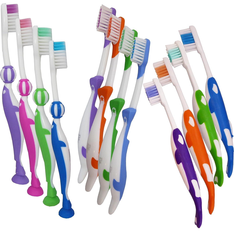 Childrens Toothbrushes ~ Bulk Pack of 12 Dental Aesthetics