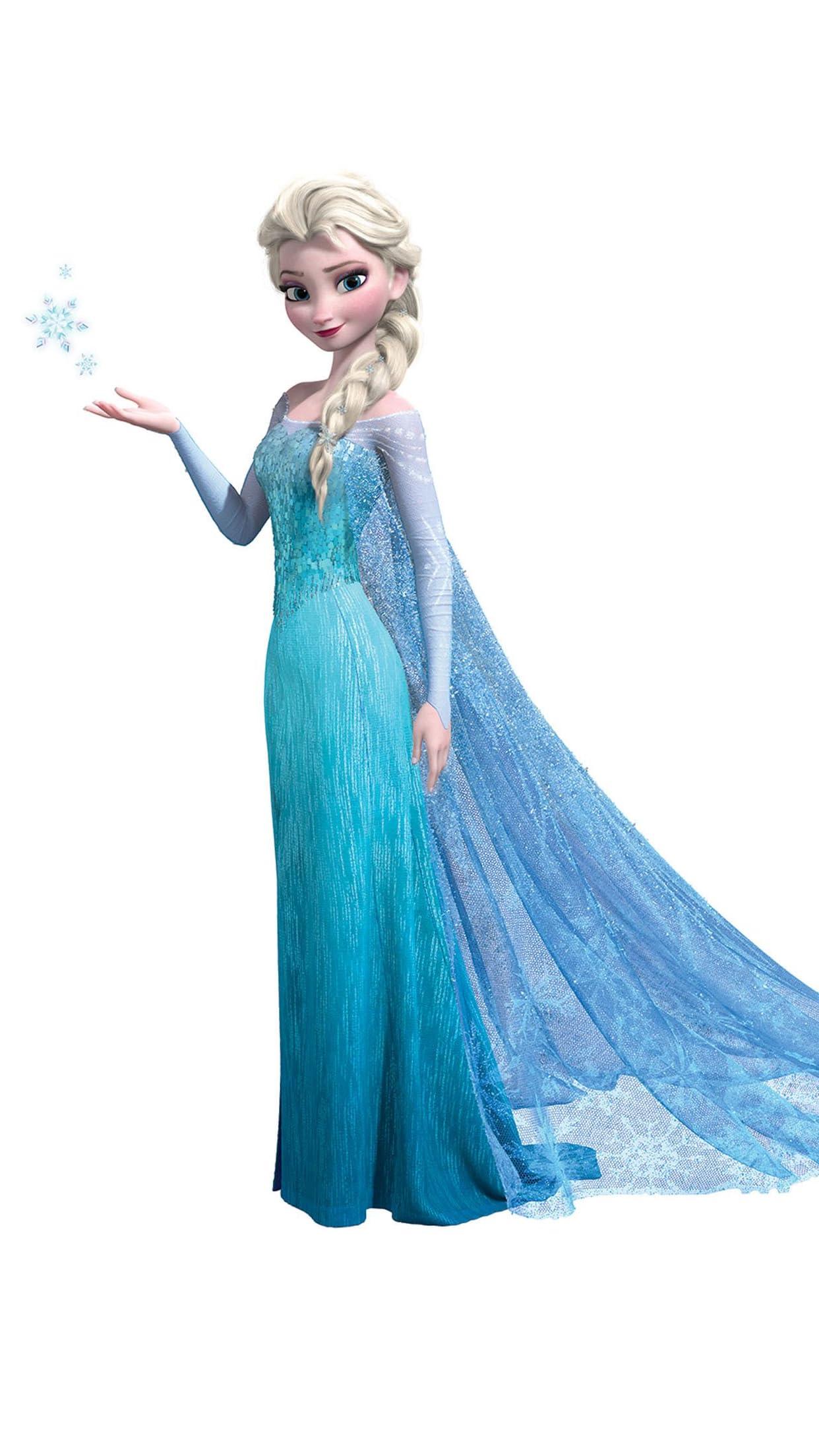 ディズニー エルサ (Queen Elsa of Arendelle)『アナと雪の女王』 iPhone8,7,6 Plus 壁紙(1242×2208)画像