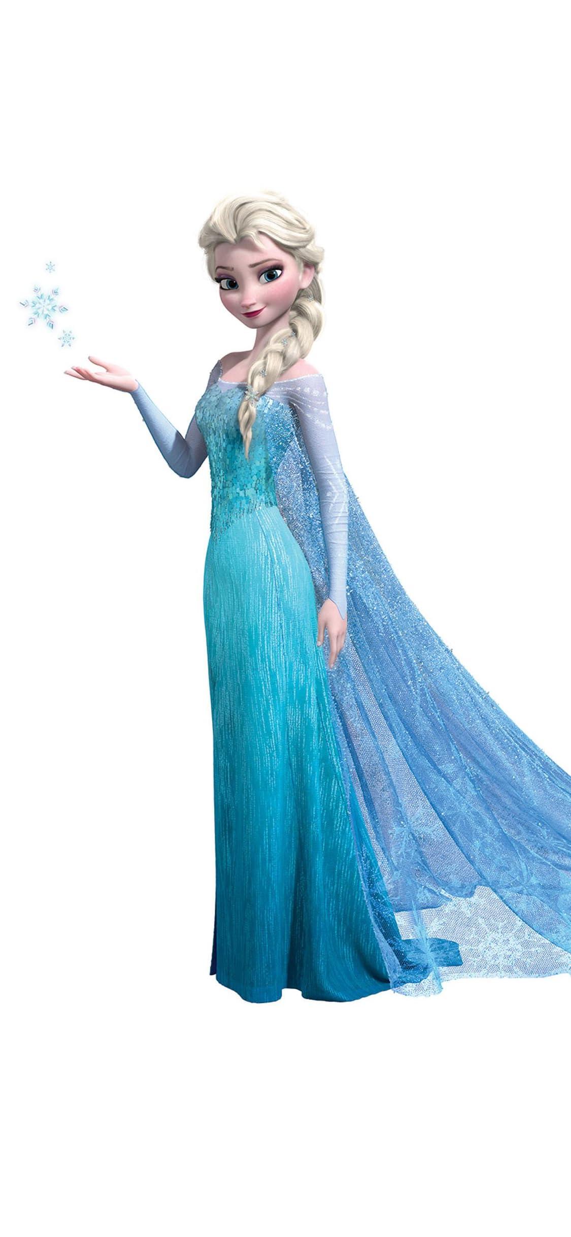 ディズニー エルサ (Queen Elsa of Arendelle)『アナと雪の女王』 iPhone X 壁紙(1125x2436) 画像73906 スマポ
