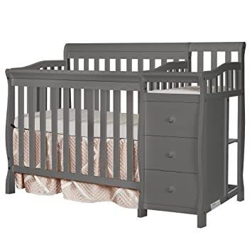Superieur Dream On Me Jayden 4 In 1 Mini Convertible Crib And Changer, Storm
