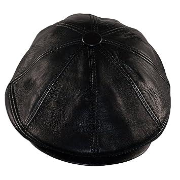 Dazoriginal Boina Cuero Casquillos Plano Gorra Piel Gatsby Sombrero Hombre Beret: Amazon.es: Equipaje