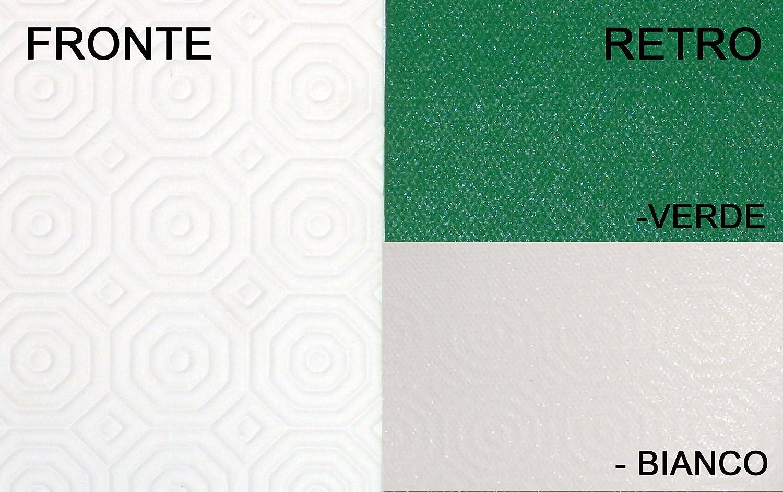 Copritavolo antimacchia salvatavolo plastificato antigraffio made in Italy - Bianco - 140 rotondo Il Gruppone