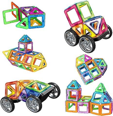 Amztronics Bloques de Construcción Magnéticos 39 Piezas Imantados Juegos de Construcción Juguetes Creativos y Educativos, Mejor Regalo para Niños: Amazon.es: Juguetes y juegos