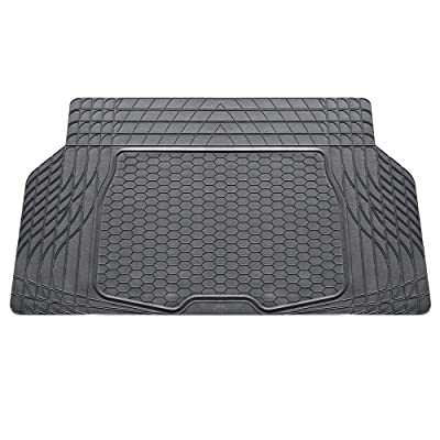 FH Group Cargo Liner F16403GRAY Cargo Mat Fits Most Sedans, Coupes and Small SUVs (Semi Custom Trimmable Vinyl Gray): Automotive