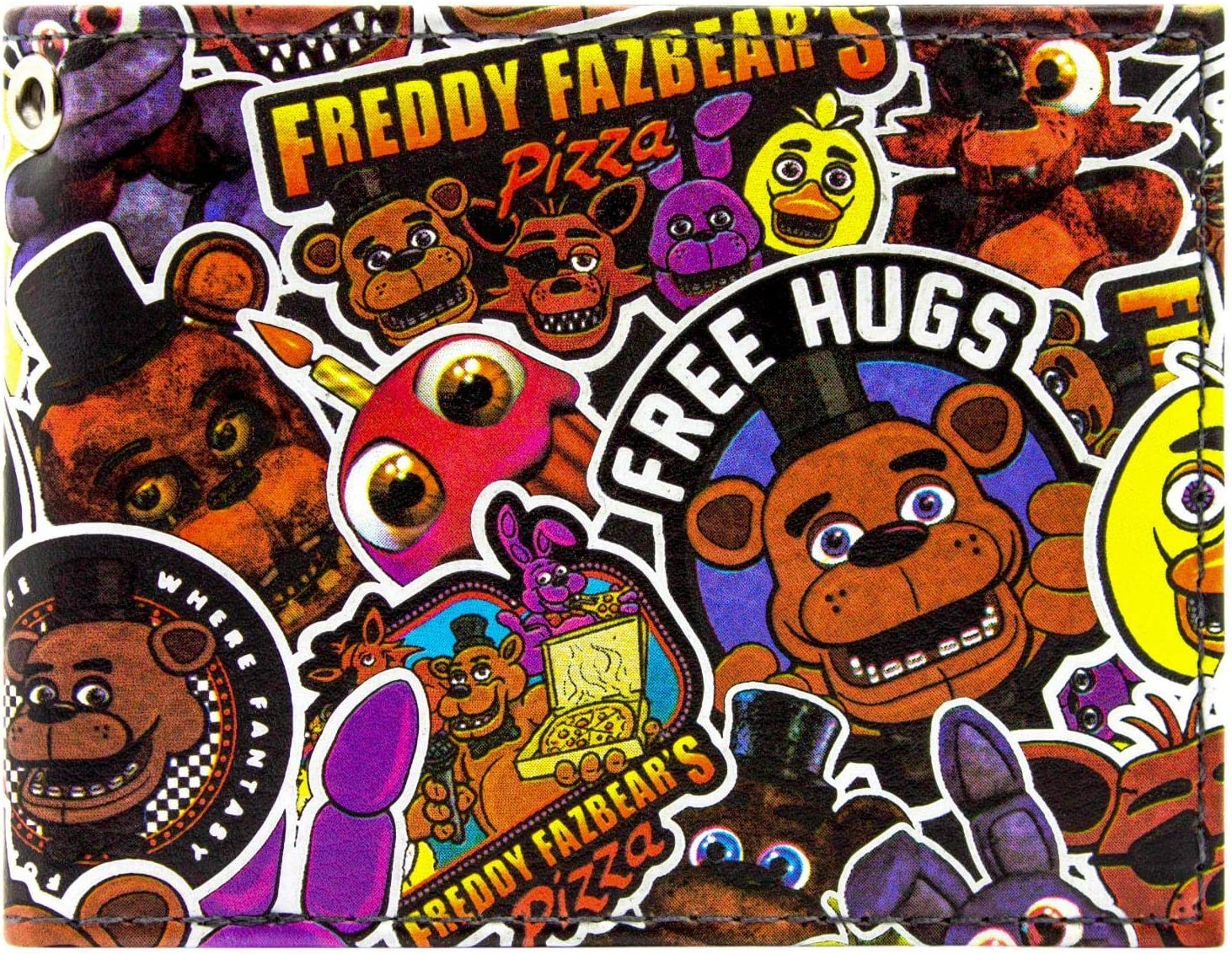 Freddy Fazbear Fazbear Pizza Black Id Card Bi Fold Wallet Amazon Co Uk Luggage