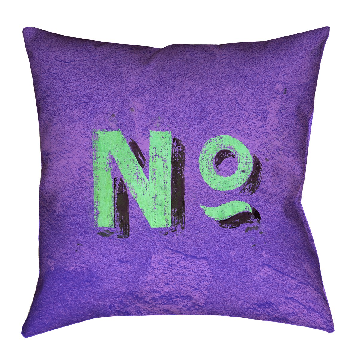 ArtVerse Katelyn Smith 20 x 20 Faux Suede Double Sided Print with Concealed Zipper /& Insert Purple /& Green Graphic Wall Pillow