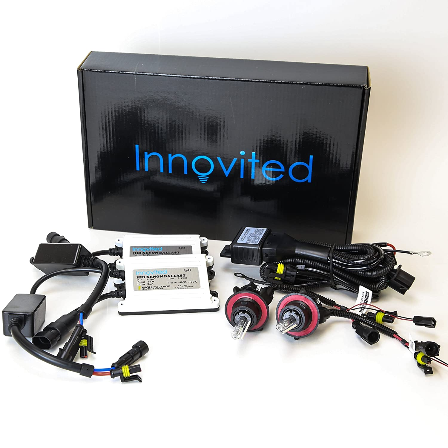 Amazon.com: Innovited AC 55W BI-XENON HI/LOW DUAL BEAM HID Kit - 9004 9007  5000K - 2 Year Warranty: Automotive