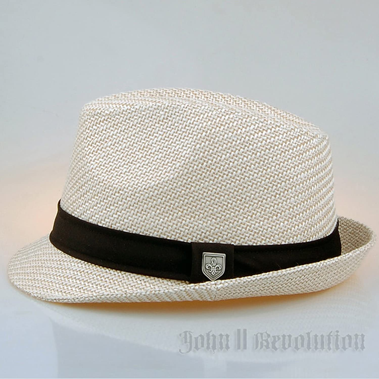 J2R Brand New Straw Fedora Hat Cap Trilby Men Women Accessory JRJ028