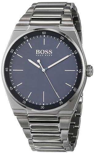 b01e990b93c Hugo BOSS Unisex-Adult Analogue Classic Quartz Watch with Stainless Steel  Strap 1513567  Amazon.co.uk  Watches