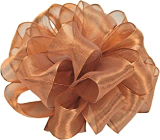 product image for Offray Wired Edge Firefly Metallic Sheer Craft Ribbon, 1-1/2-Inch Wide by 10-Yard Spool, Copper