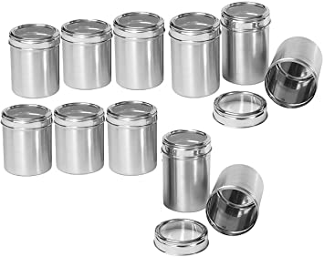 Dynore Stainless Steel Kitchen Storage Canisters With See Through Lid   Set  Of 11   Size
