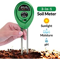 Soil pH Meter, 3-in-1 Soil Test Kit For Moisture, Light & pH, A Must Have For Home And Garden, Lawn, Farm, Plants, Herbs & Gardening Tools, Indoor/Outdoors Plant Care Soil Tester (No Battery Needed) by Eisonlife