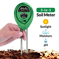 BYETOO Soil pH Meter, 3-in-1 Soil Test Kit For Moisture, Light & pH, A Must Have For Home And Garden, Lawn, Farm, Plants, Herbs & Gardening Tools, Indoor/Outdoors Plant Care Soil Tester (No Battery Needed)
