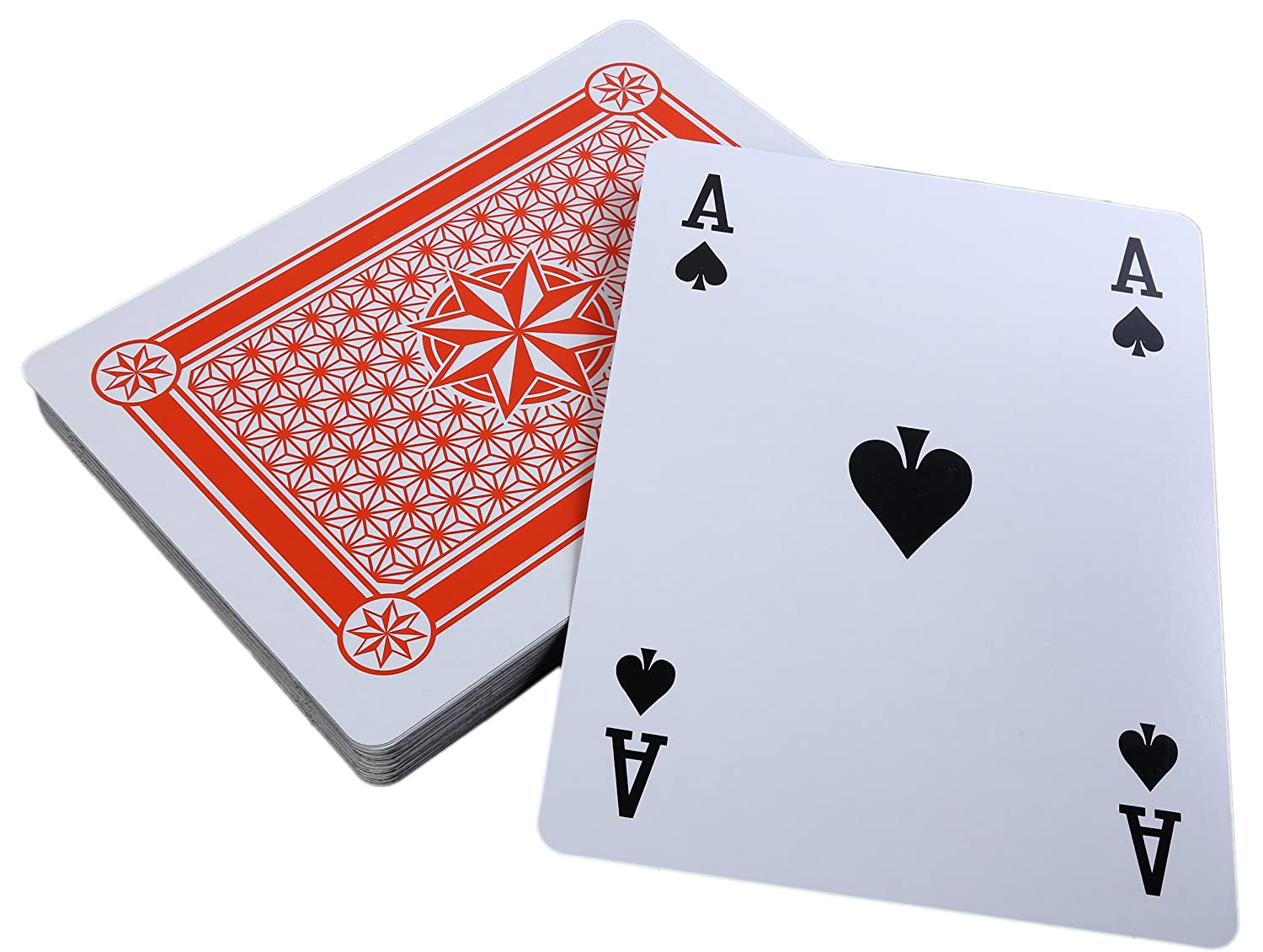 8 x 11 Inches SG/_B01MDRMZ7U/_US Juvale Super Big Giant Jumbo Playing Cards Full Deck Huge Standard Print Novelty Poker Index Playing Cards