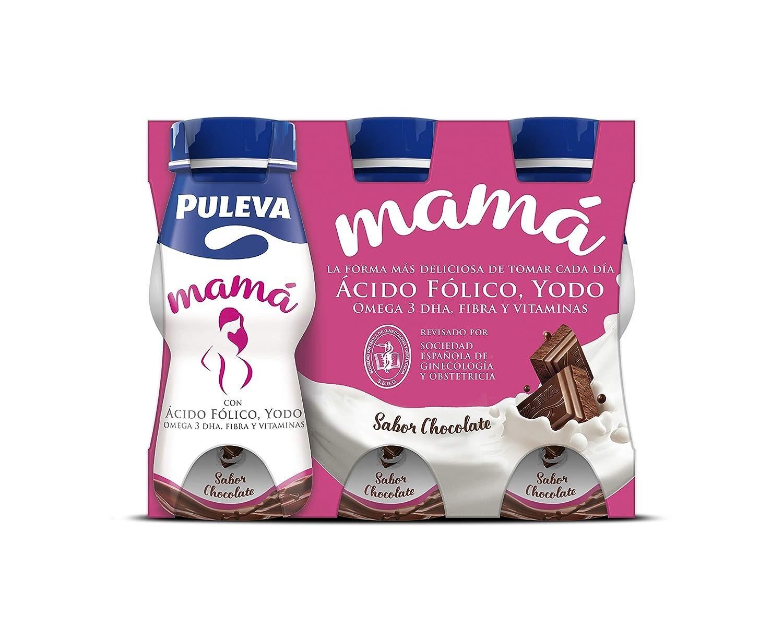 Puleva Mamá - Bebida láctea para embarazadas con Ácido Fólico, Yodo, Omega 3 DHA, Fibra y Vitaminas - 24x100 ml