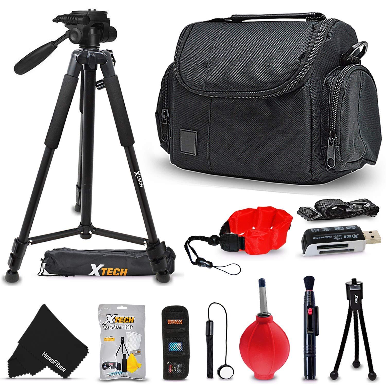 Xtechプレミアムカメラケース+ Proシリーズ72 'インチTripod for Sony Alpha a9、a7r II、a7 II、a7 a7r a7s a6500 a6300 a6000 a55 a65 a77 a99 a900 a700 a580 a560 a550 a500 a450 a390 a380 NEX - 7 NEX - 6カメラ B077T1ZQMG