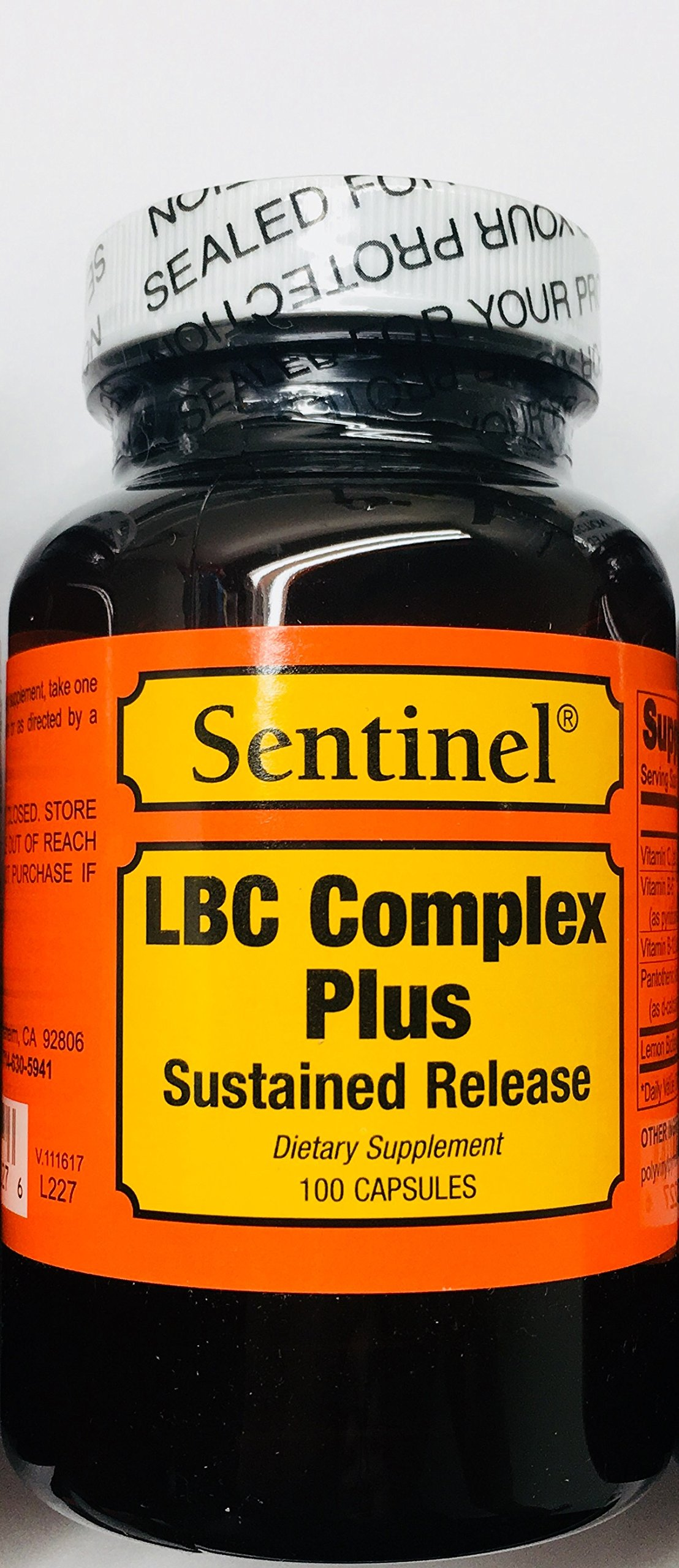 LBC Complex Sustained Release, Lemon Bio-Flavonoid Health Supplement for Relief from Ringing Ear - 100 Count Bottle - 50 Day Supply