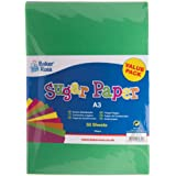 Baker Ross A3 Coloured Sugar Paper (Pack of 50 100gsm) For Crafting Activities and Decoration Making