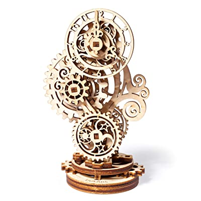 Steampunk Clock Ugears 3D Mechanical Model, Self-Assembling DIY Craft Set, Wooden Box School Project: Toys & Games