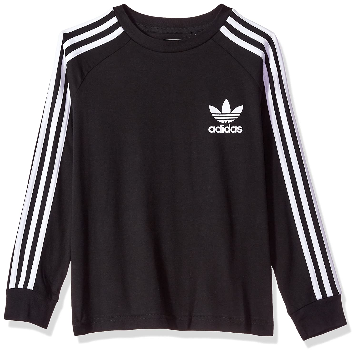 best loved detailed look shoes for cheap adidas Originals Boy's Big Kids Long Sleeve California Tee