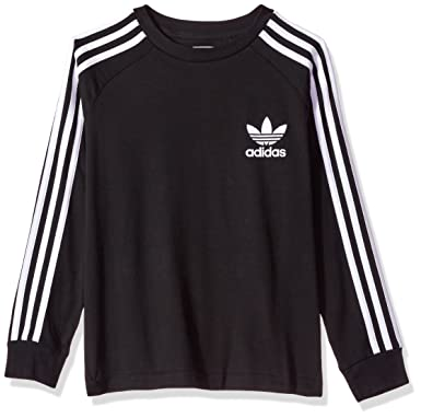 sale retailer f57a7 086ae Amazon.com  adidas Originals Boys Kids Long Sleeve California Tee  Clothing
