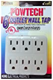 POWTECH 6 Outlet Extender Wall Mount Adapter