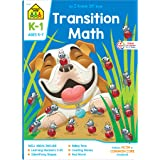 School Zone - Transition Math Workbook - 64 Pages, Ages 5 to 7, Kindergarten to 1st Grade, Comparing Numbers, Numbers 0-20, P