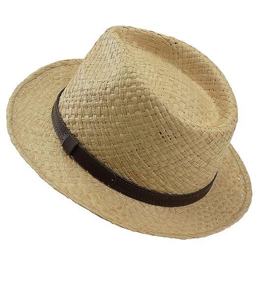 EveryHead Fiebig Cappello di Paglia da Uomo Paglietta Estate Coneflower  Panama Fedora Trilby Moda Il del Marchio per Uomini (FI-16574-S18-HE0) incl  ... 64fea95e29dc