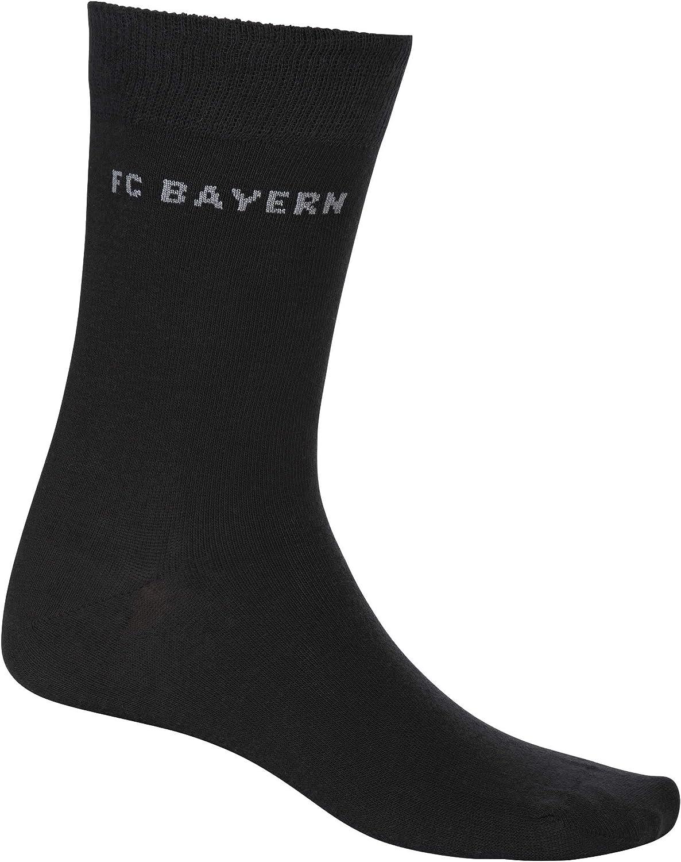 Set ** FC Bayern M/ünchen Socken//Businesssocken ** Grau//Schwarz 2er