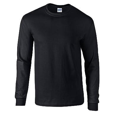 e8ca3cb5 Gildan Ultra Cotton Adult Long Sleeve T-Shirt GD014 (S, Dark Heather)