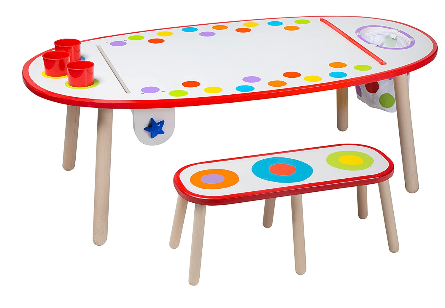 Amazon.com: ALEX Toys Artist Studio Super Art Table Rainbow Dots: Toys U0026  Games