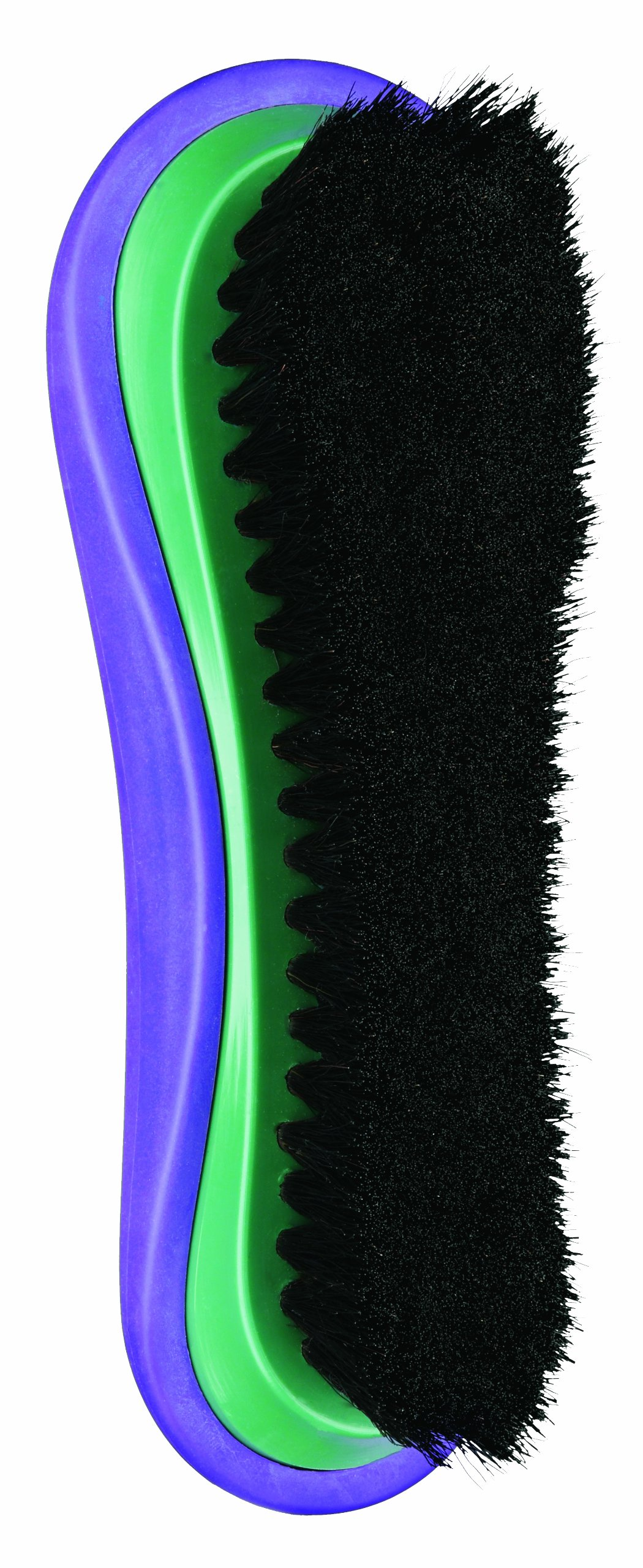 Conair Equine FX Horse Hair Finishing Brush, Equine Professional Grooming, Green/Purple