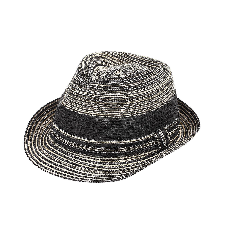 AccessHeadwear Sun Styles Rosie Ladies Modern Trilby Fedora Hat, Black